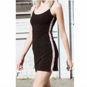 Brandy Melville Black Kyran Dress w/ Red Stripe OS